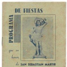 Coleccionismo: PROGRAMA DE FIESTAS DE SAN SEBASTIÁN MARTIR JULIO DE 1942 ALFAFAR (VALENCIA) - ORIGINAL ÉPOCA. Lote 195425350