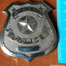 Coleccionismo: CHAPA PLATEADA POLICE SPECIAL. Lote 195429225