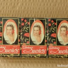 Coleccionismo: ANTIGUO JABON DULCES SUEÑOS, PACK 3 PASTILLAS DE 75 G.. Lote 195439720