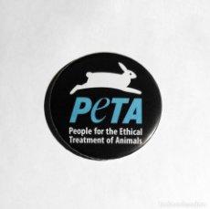 Coleccionismo: PETA - IMÁN NEVERA 59MM. Lote 195441646