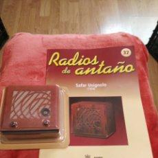 Coleccionismo: RADIOS DE ANTAÑO SAFAR USIGNOLO AÑO 1934. Lote 195453185
