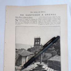 Coleccionismo: POR TIERRAS DE GALICIA. DE SANTIAGO A ORENSE. (TABOADA. UN CRUCEIRO) 1931. Lote 195465142