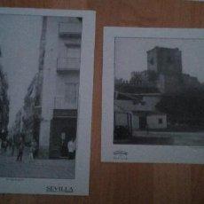 Coleccionismo: 2 LAMINAS DE DIPUTACION DE SEVILLA DE LA CALLE SIERPES Y EL CASTILLO DE UTRERA . Lote 195472161