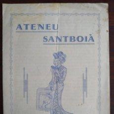 Coleccionismo: CARNAVAL A L´ATENEU SANTBOIÀ 1935 DE SANT BOI DE LLOBREGAT ORQUESTRINES BREAK´S I SATAN BAN,. Lote 195483778
