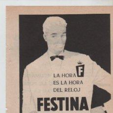 Coleccionismo: ANUNCIO PUBLICIDAD RELOJ FESTINA. Lote 195504055