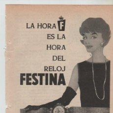 Coleccionismo: ANUNCIO PUBLICIDAD RELOJ FESTINA. Lote 195504568