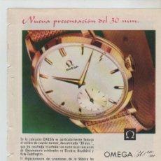 Coleccionismo: ANUNCIO PUBLICIDAD RELOJ OMEGA-NESCAFE-LA LECHERA. Lote 195504617