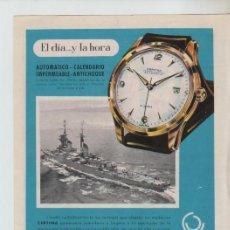 Coleccionismo: ANUNCIO PUBLICIDAD RELOJ CERTINA-MAQUINA DE COSER ALFA. Lote 195504823
