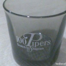 Coleccionismo: VASO WHISKY 100 PIPERS. Lote 195507668