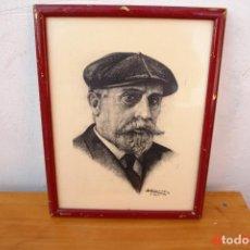 Coleccionismo: CUADRO DE -PABLO IGLESIAS -PESOE - CUADRO SORTEADO EN CONGRESO SOCIALISTA. Lote 195509018