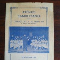 Coleccionismo: ACTUACIÓN DEL ORFEO INFALTIL DE LES CORTS 1962 EN EL ATENEU SANTBOIÀ DE SANT BOI DE LLOBREGAT . Lote 195510566
