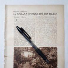 Coleccionismo: MOTIVOS ESPAÑOLES. LA DORADA LEYENDA DEL RIO DARRO. GRANADA Y EL DARRO. 1931. Lote 195511108