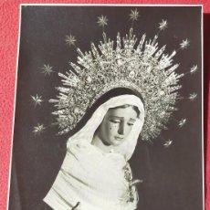 Coleccionismo: LÁMINA/FOTO EN B/N DE NUESTRA SEÑORA DE LA PIEDAD, CAPILLA DEL BARATILLO AÑOS 50. Lote 195517421