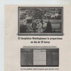 Coleccionismo: ANUNCIO PUBLICIDAD ELECTRODOMESTICOS WESTINGHOUSE. Lote 195550681