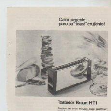 Coleccionismo: ANUNCIO PUBLICIDAD ELECTRODOMESTICOS BRAUN. Lote 195550881