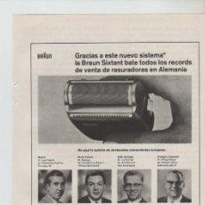Coleccionismo: ANUNCIO PUBLICIDAD MAQUINA DE AFEITAR BRAUN. Lote 195550976