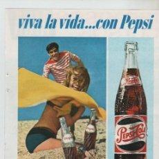 Colecionismo: ANUNCIO PUBLICIDAD BEBIDAS REFRESCO PEPSI-CURSOS AFHA. Lote 195685460