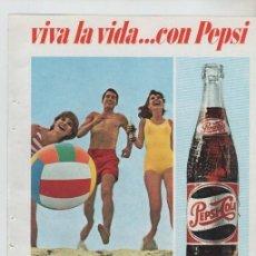 Colecionismo: ANUNCIO PUBLICIDAD BEBIDAS REFRESCO PEPSI-WHISKY BALLANTINES. Lote 195685485