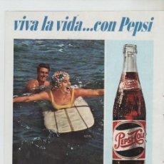 Colecionismo: ANUNCIO PUBLICIDAD BEBIDAS REFRESCOS PEPSI COLA. Lote 195742817