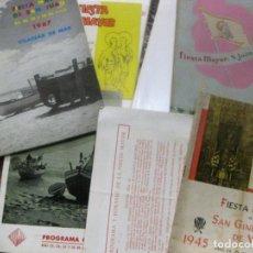 Coleccionismo: 9 PROGRAMA FIESTA MAYOR VILASSAR DE MAR 1961- 1967-1953-1956-1967-1957-1945-1976-1952. Lote 195766808
