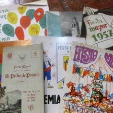 Coleccionismo: 7 PROGRAMA FIESTA MAYOR SAN CRISTOBAL SAN PEDRO PREMIA DE MAR 1960 - 1957- 1976-1956-1970-1968-1976. Lote 195768855