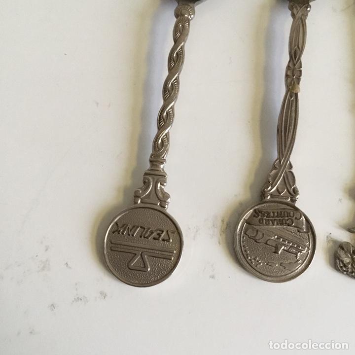 Coleccionismo: 11 x Cucharillas de té o café souvenir y colección temática. Alpaca, plata, acero - Foto 2 - 195922772
