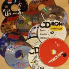 Coleccionismo: LOTE 13 CDS REVISTAS INFORMÁTICAS AÑOS 90. Lote 196336400