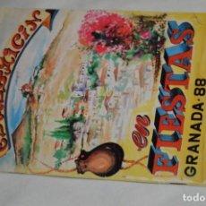 Coleccionismo: ANTIGUO PROGRAMA DE FIESTAS - EL ALBAICÍN EN FIESTAS / GRANADA 88 - VINTAGE ¡MIRA FOTOS Y DETALLES!. Lote 196541170