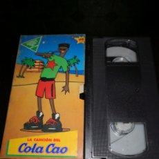 Coleccionismo: VIDEO COLACAO COLA CAO+REGALO DE PALAS SHIN CHAN. Lote 196654838