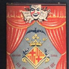 Coleccionismo: SOCIEDAD CORAL ELS MODERNS DEL POBLE SEC-FESTIVAL OFICIAL 1960 BARCELONA. PROGRAMA. . Lote 196828945
