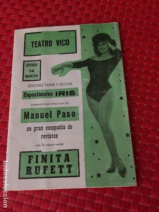 TEATRO VICO - JUMILLA ( MURCIA ) - 14 DICIEMBRE 1965 - PROGRAMA DE REVISTAS - ESPECTÁCULOS IRIS (Coleccionismo - Laminas, Programas y Otros Documentos)