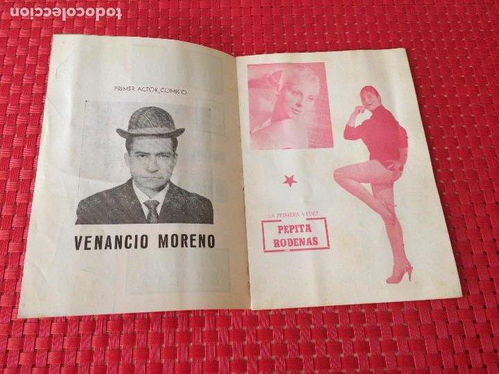 Coleccionismo: TEATRO VICO - JUMILLA ( Murcia ) - 14 DICIEMBRE 1965 - PROGRAMA DE REVISTAS - ESPECTÁCULOS IRIS - Foto 2 - 197101482