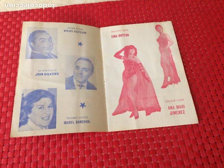 Coleccionismo: TEATRO VICO - JUMILLA ( Murcia ) - 14 DICIEMBRE 1965 - PROGRAMA DE REVISTAS - ESPECTÁCULOS IRIS - Foto 3 - 197101482