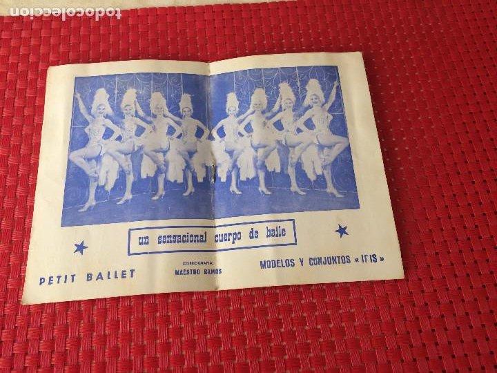 Coleccionismo: TEATRO VICO - JUMILLA ( Murcia ) - 14 DICIEMBRE 1965 - PROGRAMA DE REVISTAS - ESPECTÁCULOS IRIS - Foto 4 - 197101482
