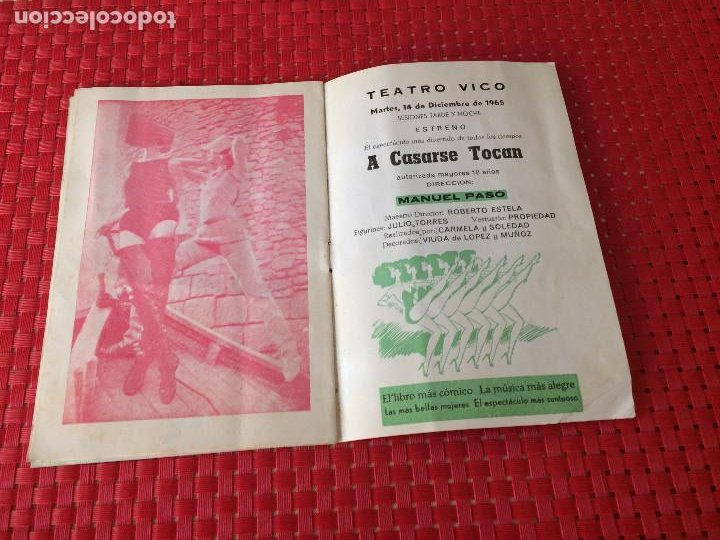 Coleccionismo: TEATRO VICO - JUMILLA ( Murcia ) - 14 DICIEMBRE 1965 - PROGRAMA DE REVISTAS - ESPECTÁCULOS IRIS - Foto 6 - 197101482