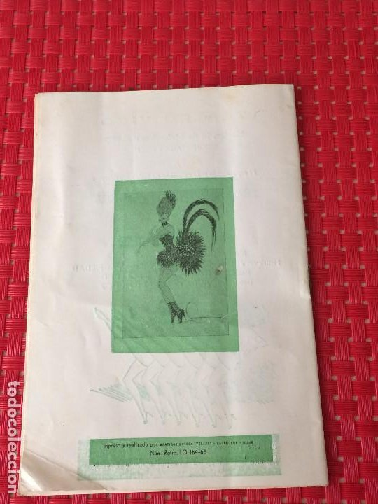 Coleccionismo: TEATRO VICO - JUMILLA ( Murcia ) - 14 DICIEMBRE 1965 - PROGRAMA DE REVISTAS - ESPECTÁCULOS IRIS - Foto 8 - 197101482
