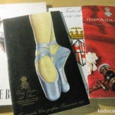 Coleccionismo: 5 PROGRAMA OPERA GRAN TEATRO DEL LICEO 69-70, 71-72 69 CABALLE - BALLET ALICIA ALONSO LAGO CISNE. Lote 197585887