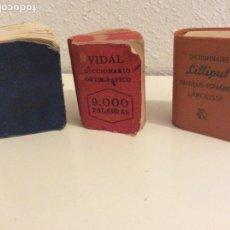 Coleccionismo: TRES DICCIONARIOS EN MINIATURA. Lote 197767653