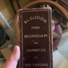 Coleccionismo: BONITA CAJA DE BOBINAS DE SEDA ANTIGUAS, COMPLETA. Lote 198064248