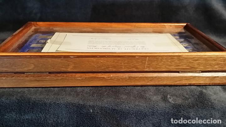 Coleccionismo: JUEGO LINGOTES BANDERAS DE ESTADOS UNIDOS (50) EN PLATA ESTERLINA AÑO 1975 CON CERTIFICADO - Foto 14 - 198290677