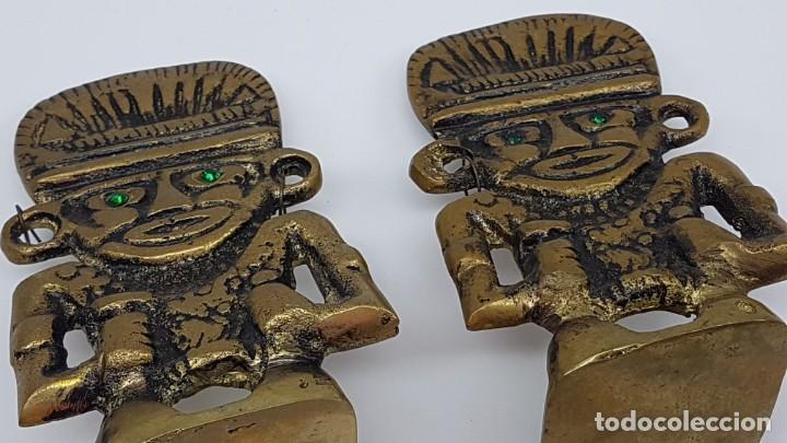 Coleccionismo: JUEGO AGUANTA LIBROS EN BRONCE ( FIGURA INCA ) - Foto 7 - 198337416