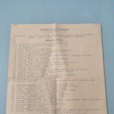 Coleccionismo: CONCURSO DESFILE DE CARROZAS. VALLADOLID, 15 DE SEPTIEMBRE DE 1973. ITINERARIO Y ORDEN DEL DESFILE... Lote 198406157