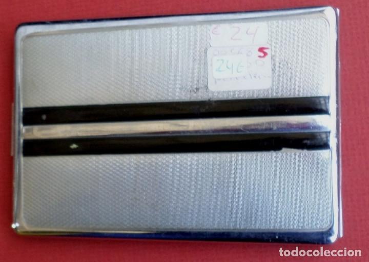 Coleccionismo: Pitillera metal - Funciona el cierre - Foto 2 - 198572855
