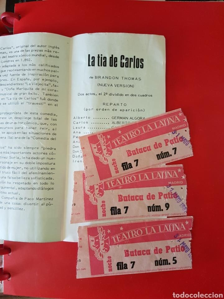 Coleccionismo: Folleto y 3 entradas teatro latina Madrid 1980 Paco Martínez Soria - Foto 2 - 198607611