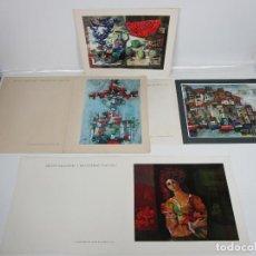 Coleccionismo: FELICITACIONES AÑOS 1964,65,66,67 - BOEHRINGER INGELHEIM - LAMINAS REPRODUCCIÓN DE PINTURAS. Lote 198967796