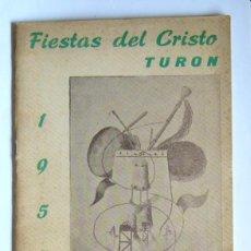 Collectionnisme: PROGRAMA DE FIESTAS DEL CRISTO - TURON ( MIERES ). 1957. Lote 199116587