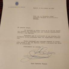 Collectionnisme: CARTA FIRMADA POR D.LUIS CARRERO BLANCO. Lote 199145562