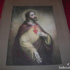Coleccionismo: MUY BONITA LÁMINA .CORAZÓN DE JESÚS.FRANCIA. . Lote 199371060