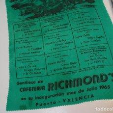 Coleccionismo: PLAZA DE TOROS DE VALENCIA FERIA JULIO 1965 CURRO ROMERO JAIME OSTOS ORDOÑEZ EL CORDOBES PACO CAMINO. Lote 199528618