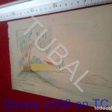Collezionismo: TUBAL DIBUJO ORIGINAL FIRMADO B68. Lote 199659011